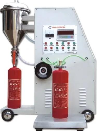 干粉灭火器灌装机的灌装操作